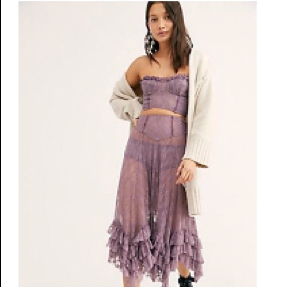 58c39ae5762e 🆕Free People Party Fever Set Lavender lace 💜